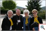 Sr.Elisabeth Sohler S.S.M.O., Bishop Connolly, Irene Richardson and Mary Ann Davis (left to right)