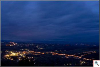 Night time Medjugorje panorama